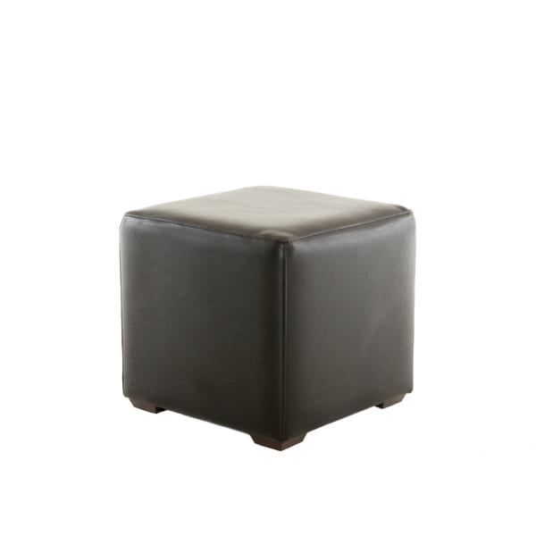 black leather cube