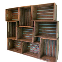 Wood Crates with Handles