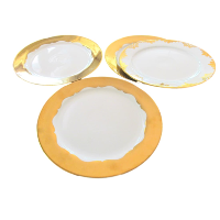 Large Round Gold Serving Platters
