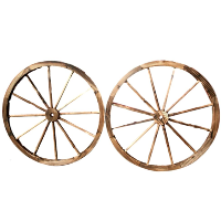 Large Wooden Wagon Wheels