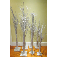 Silver Papery Stick Trees