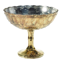 Gold Desiray Compote Vase