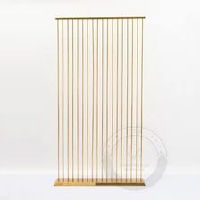 Gold Vertical Bars Stand
