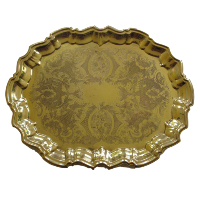 Vintage Gold Coloured Oval Tray