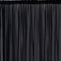 Black Sheer Organza Backdrop Curtain Service