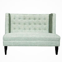 Mint Tufted Bench Seat