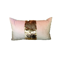 Oblong Pink Pillow with Sequins