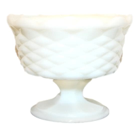 Vintage Milk Glass Compote Vase, Style No. 9