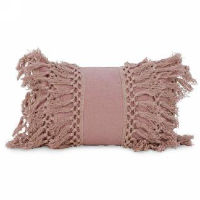 Pink Macrame Pillows