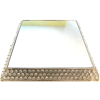 Sparkly Square Crystal Cake Stand