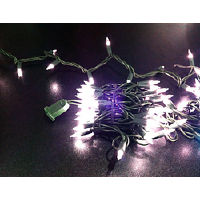 Outdoor Mini White Lights with White Cord