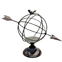 Tin Bird & Arrow Globe