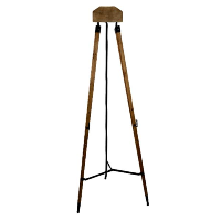 Chic Metal and Wood Floor Easel Stands