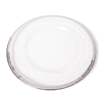 The Head Table Collection: Silver Band Glass Charger Plates