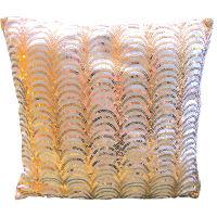 Pink & Gold Art Deco Pillow
