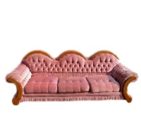Lucy Pink Vintage Couch