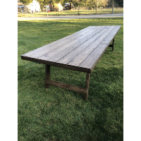Wood 10' Rectangle Harvest Tables