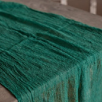 Green Moss Cheesecloth Table Runners 16'
