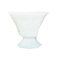 Vintage Milk Glass Compote Vase, Style No. 12