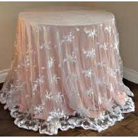 Sheer Ivory Lace Overlay
