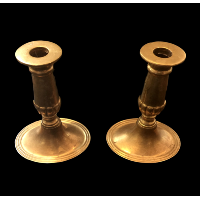 Oval Base #2 Brass Candlesticks