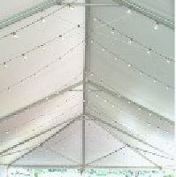 Globe Light Strings in Tents - Installation Service
