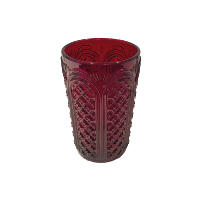 Ruby Glass Cylinder Vase - Small