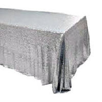 Silver Sequin Banquet Tablecloths