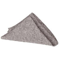 Grey Faux Linen Napkins
