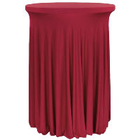 Red Wavy Spandex Table Covers