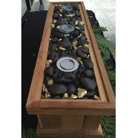 Smore Box with Gold and Black Rocks
