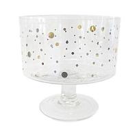 Gold Dot Pedestal Bowl