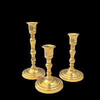 Brass Candlesticks #325