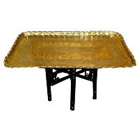 Large Brass Tray Table
