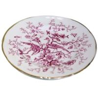 Pink Cairo Birds Dessert Plates