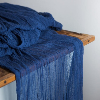 Navy Cheesecloth Table Runners - 16'