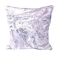 Purple Marble and Silver Foil Accents Pillows