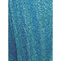 Icy Winter Blue Sequin Table Overlays with Seams