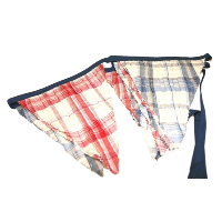 Blue and Red Plaid Banners