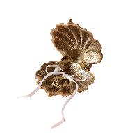 Gilded Sea Shell Ring Holder