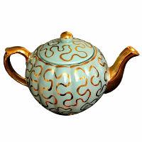 Vintage Blue-Green Tea Pot
