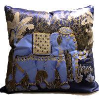 Blue Elephant Pillows