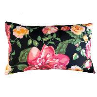 Black, Pink, Yellow Floral Pillows