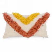 Cream, Yellow, Rust Tuft Rectangle Pillows