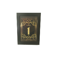 Art Deco Table Numbers 1-24