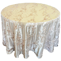 Ribbon Taffeta Round Tablecloths - fits a 5' Round Table