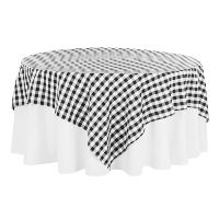 Square Black and White Checkered Overlays