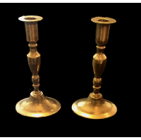 Oval Base #1 Brass Candlesticks
