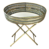 Gold and Blue Tray Stand