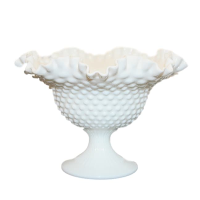 Vintage Milk Glass Compote Vase, Style No. 1
